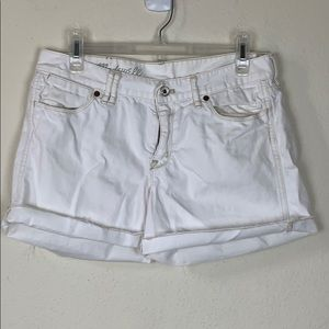 Madewell- White Raw Hem Shorts size 30